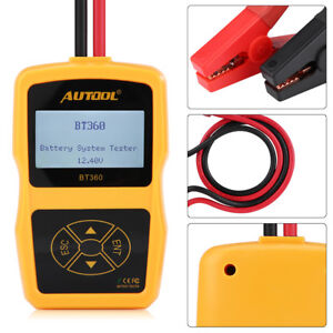 12v Bt 360 Automotive Load Battery System Tester Digital Analyzer Cell Test Tool