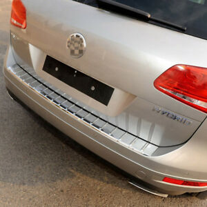 For Volkswagen Touareg 2011 18 Car Rear Bumper Sill Scuff Plate Protector Cover