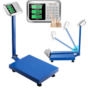 660lb 300kg Digital Floor Platform Scale Lcd Display Postal Shipping Weight Blue