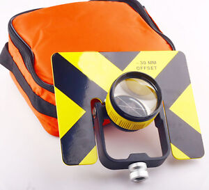 Yellow Single Prism W bag For Topcon Total Stations Surveying Constant 30 0mm