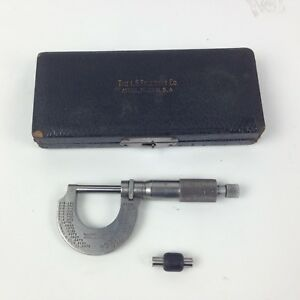 Starrett Micrometer 230 0 1 With Case Free Ship