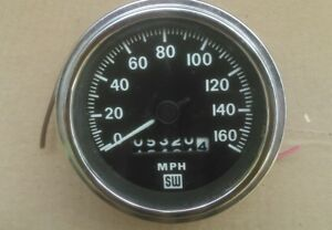 Stewart Warner Speedometer 160mph Rat Rod Old School