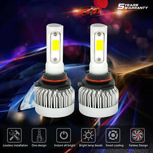 2x 2018 New 9006 Hb4 Led Headlight Bulbs Conversion Cob Car 1365w 204750lm 6000k