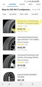 4 Brand New Rims And Tires 245 40 R17 Chevy Equinox