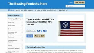 Boating Products Website Business For Sale With Free Hosting With Fb