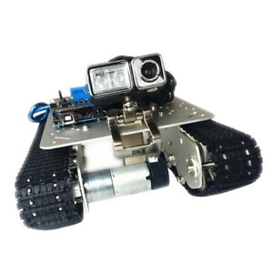 Perfeclan Silver Smart Robot Car Tank Chassis Kit Aluminum Alloy With Camera