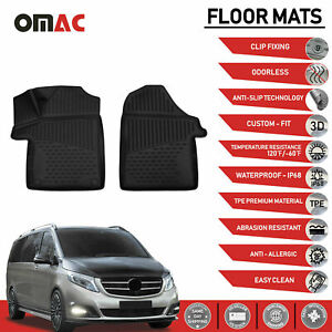 Mercedes benz Metris Vito w447 2014 2019 Floor Mats Liner 3d Molded Fit Black