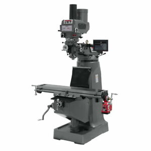 Jet 690069 Jtm 4vs Mill Newall Dp700 Dro X axis Powerfeed And Power Draw Bar