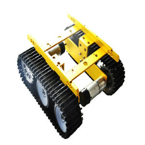 Perfeclan Golden 12v Smart Robot Car Tank Chassis Kit Alloy With Code Wheel