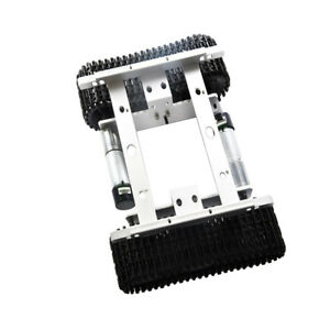 Perfeclan Silver 12v Smart Robot Car Tank Chassis Kit Alloy With Code Wheel