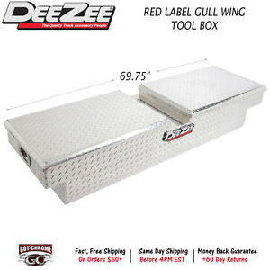 Dz10370 Dee Zee Red Label Tool Box Silver Gull Wing Crossover 69 75