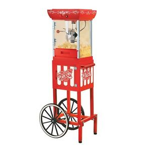 Popcorn Maker Machine Popper Nostalgia Old Fashioned Vintage Cart Home Theater