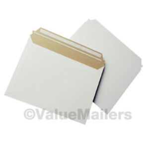 12 5 X 9 5 Self Seal White Photo Flat Cardboard Envelope Mailers 100 To 2000