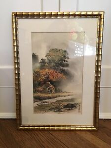 Authentic Chinese Watercolor Painting On Silk Mint Condition