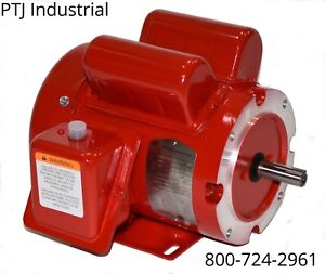2 Hp Electric Motor 56 56c Frame 1 Phase 1800 115 230 Farm Duty Manual Overload