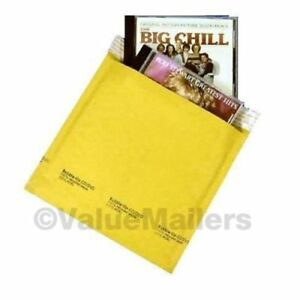 cd 7 25 X 8 Kraft Bubble Lite Mailers Cd Dvd Padded Envelopes Bags 250 To 2500