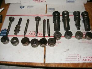 Large Lot Strippit Tooling Used Punches And Dies