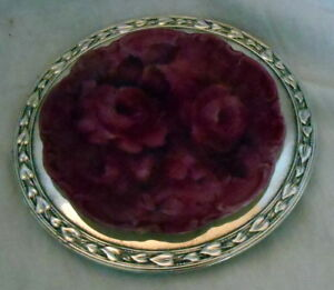 Silver Plated Wm A Rogers Meadowbrook Leaf Tray Dish 5 5 W Rose Plate Insert