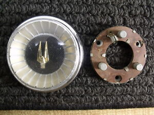 1963 1964 Studebaker Gt Hawk Steering Wheel Horn Button Chrome Bezel