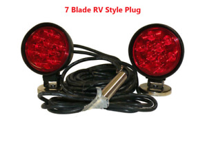 Custer Led Heavy Duty Magnetic Towing Lights 70 Magnets 7 Blade Rv Style Plug