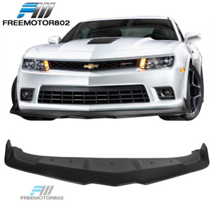 Fits 14 15 Chevy Camaro Ss Z 28 Ikon Style Front Bumper Lip Spoiler Unpainted Pp