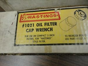 Vintage Hastings 1021 Aluminum Oil Filter Cap Wrench New Old Stock Unused