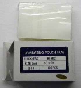Laminating Pouch Film I d Card Size Lot Of 4 Boxes 100 Ea 80 Mic 60mm X 90mm