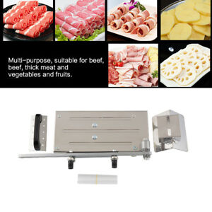 Adjustable Manual Frozen Food Meat Slicer Beef Roll Herbs Cutting Cleaver Cutter