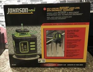 Brand New Johnson Self leveling Rotary Laser Level Greenbrite 40 6543