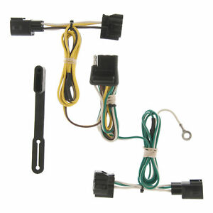 55363 Curt 4 Way Flat Trailer Wiring Connector Harness Fits Jeep Wrangler Tj