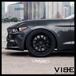 20 Velgen Vmb6 Black Concave Wheels Rims Fits Ford Mustang Gt Gt500