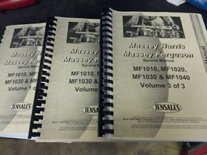 Massey Ferguson 1030 1035 Tractor Service Manual Vol 1 2 3