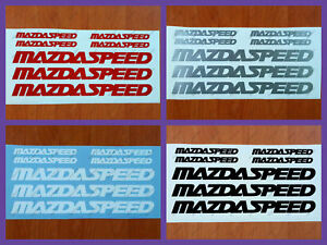 7pcs Mazda Speed 3 5 6 Cx7 Rx7 Rx8 Mazdaspeed Decal Sticker Emblem Logo Pack