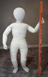 Vintage Child Full Body Posable Cloth Mannequin 36 Tag Dated 1973 Usa 70 s Old