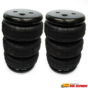 New 2 Universal Triple Bellow Air Bags 1 4 2600lbs Lift spring ride Suspension