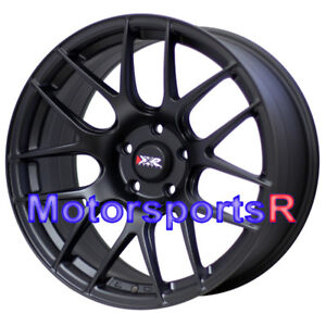 Xxr 530 18 S Flat Black Wheels Rims 5x114 3 Staggered Fit 08 Nissan 350z Nismo
