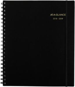 Weekly monthly Academic Appointment Planner 12 Months 07 2018 06 2019 8 8 x11