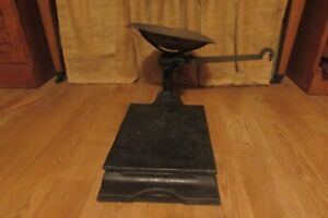 Antique Vintage Black Cast Iron 6021 Platform Balance Scale 2377dr