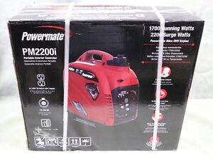 Powermate Pm2200i 2200 watt Portable Gas Inverter Generator Brand New Sealed