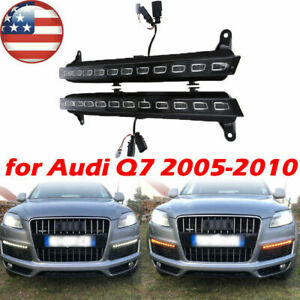 12v Led Drl Car Headlight Turn Signal Fog Running Light For Audi Q7 2007 2008 09