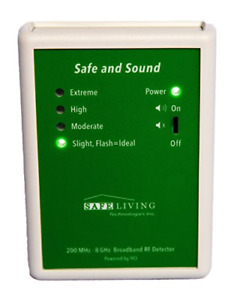 Safe Living Technologies Safe And Sound Premium Rf Detector 200mhz 8ghz For