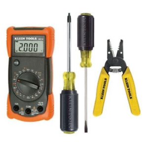 Klein Tools Outlet And Switch Installation Kit With Digital Multi meter 4 piece