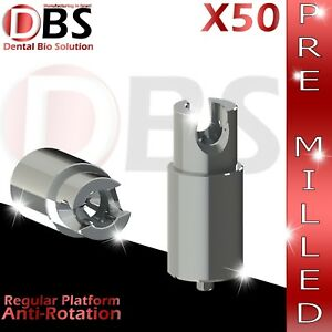 50x Dental Abutment Pre milled Screw With Hex Amann Girrbach Mis Rp