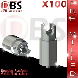 100x Dental Abutment Pre milled Screw With Hex Amann Girrbach