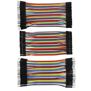 120pcs 10cm 4inch Multicolored Dupont Wire 40pin Male To Female 40pin Male To