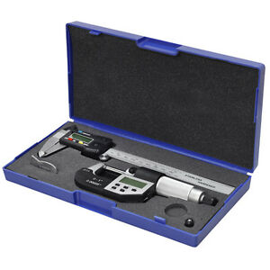 Ip54 6 150mm Digital Caliper 0 25mm 1 Micrometer Stainless Hardened Combo