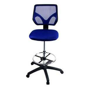 Cool Living Mesh Armless Adjustable Height Drafting Chair Blue open Box
