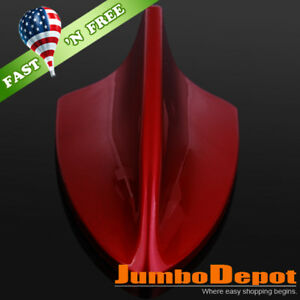 Us Red Shark Fin Car Roof Top Mount Dummy Aerial Antenna Mast Decor For Honda