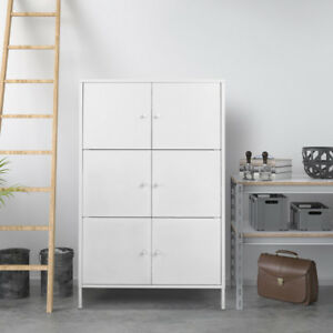 New White Metal Filing Cabinet Storage Organizer Home Office Floor Cabinet N9x4