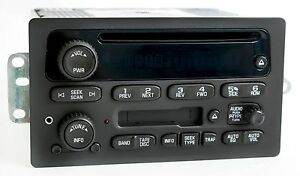 2003 2005 Gm Chevy Truck Van Radio Am Fm Cassette Cd Player W Aux Input 15104156